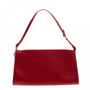 Louis Vuitton Rouge Epi Leather Pochette Accessories