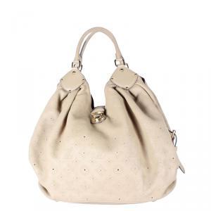 Louis Vuitton Beige Monogram Mahina Leather XL Bag