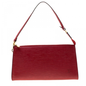 Louis Vuitton Castilian Red Epi Leather Pochette Accessories