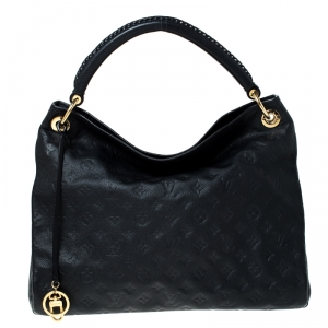 Louis Vuitton Black Monogram Empreinte Leather Artsy MM Bag