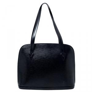 Louis Vuitton Black Epi Leather Lussac Bag