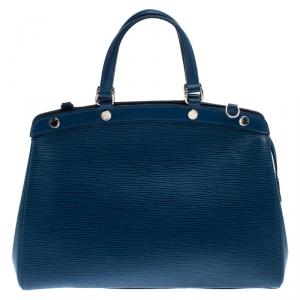 Louis Vuitton Saphir Epi Leather Brea MM Bag