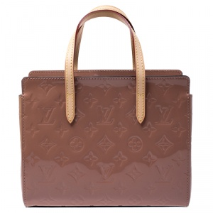 Louis Vuitton Rose Velours Monogram Vernis Catalina BB Bag