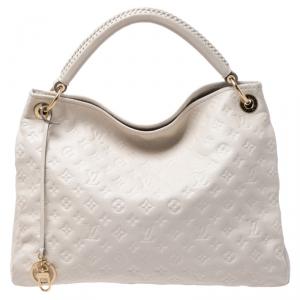 Louis Vuitton Beige Monogram Empreinte Leather Artsy MM Bag