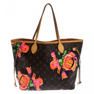 Louis Vuitton Monogram Canvas Limited Edition Stephen Sprouse Roses Neverfull MM Bag