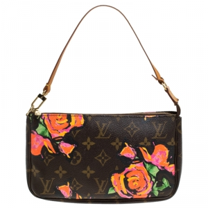 Louis Vuitton Monogram Stephen Sprouse Roses Pochette Accessories