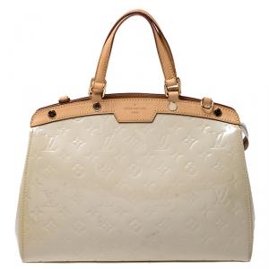 Louis Vuitton Rose Florentine Monogram Vernis Brea MM Bag