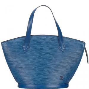 Louis Vuitton Toledo Blue Epi Saint Jacques Short Strap PM Everyday Bag