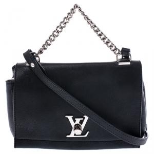 Louis Vuitton Black Leather Lockme II BB Bag