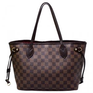 Louis Vuitton Damier Ebene Canvas Neverfull PM Bag