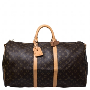Louis Vuitton Monogram Canvas Keepall 55 Bandouliere Bag