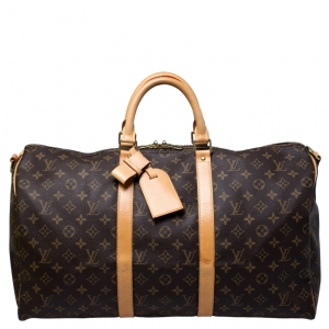Louis Vuitton Monogram Canvas Keepall 50 Bandouliere Bag