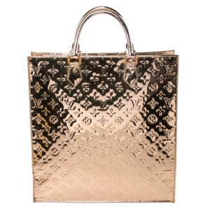 Louis Vuitton Gold Limited Edition Monogram Miroir Sac Plat Tote