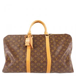 Louis Vuitton Monogram Canvas Keepall 50 Bag`