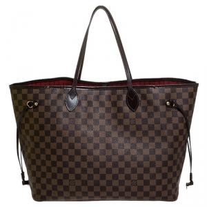 Louis Vuitton Damier Ebene Canvas Neverfull GM Bag