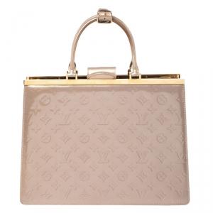 Louis Vuitton Beige Poudre Monogram Vernis Deesse GM Bag