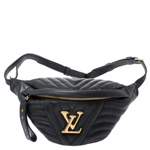 Louis Vuitton Black Leather New Wave Bumbag