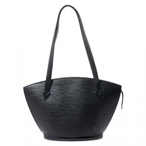 Louis Vuitton Black Epi Leather Saint Jacques PM Tote