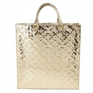 Louis Vuitton Metallic Gold Monogram Leather Miroir Sac Plat Bag