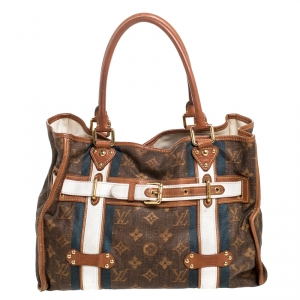 Louis Vuitton Monogram Canvas Limited Edition Tissue Rayures GM Bag