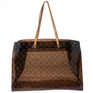 Louis Vuitton Sac Cabas Clear Translucent Monogram Ambre Gm Tote