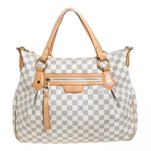 Louis Vuitton Damier Azur Canvas Evora MM Bag
