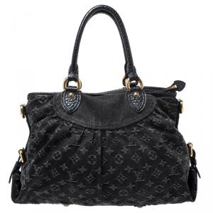 Louis Vuitton Black Monogram Denim Idylle Neo Cabby MM Bag