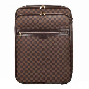Louis Vuitton Damier Ebene Canvas Business Pegase Legere 55 Luggage Bag