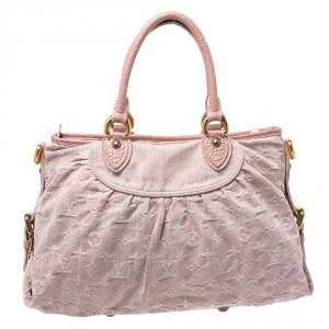 Louis Vuitton Pink Monogram Denim Neo Cabby MM Bag