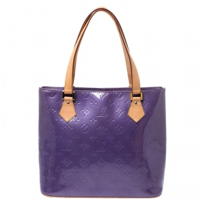 Louis Vuitton Purple Monogram Vernis Houston Bag