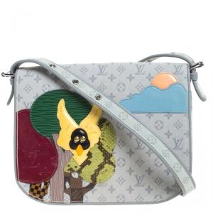 Louis Vuitton Grey Monogram Limited Edition Patchwork Conte de Fees Musette Bag