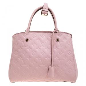 Louis Vuitton Beige Rose Monogram Empreinte Leather Montaigne MM