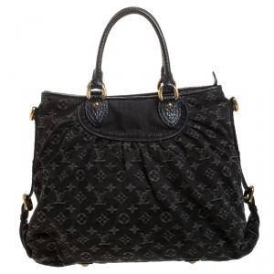 Louis Vuitton Black Monogram Denim Neo Cabby GM Bag