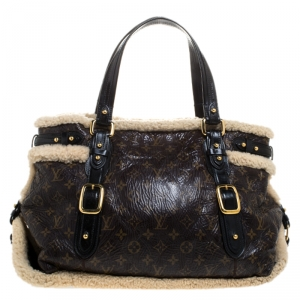 Louis Vuitton Monogram Limited Edition Shearling Thunder Bag