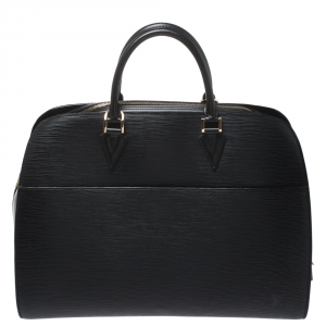 Louis Vuitton Black Epi Leather Sorbonne Bag