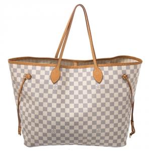 Louis Vuitton Damier Azur Canvas Neverfull GM Bag