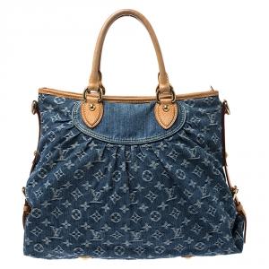 Louis Vuitton Blue Monogram Denim Neo Cabby GM Bag