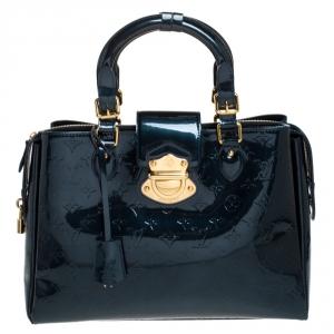 Louis Vuitton Blue Nuit Monogram Vernis Melrose Avenue Bag