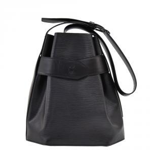 Louis Vuitton Black Epi Leather Sac Depaule PM Bag