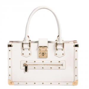 Louis Vuitton White Suhali Leather Le Fabuleux Bag