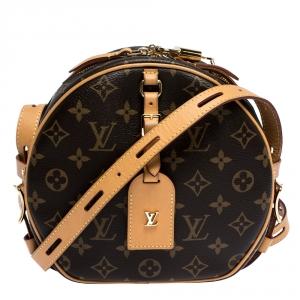 Louis Vuitton Monogram Canvas and Leather Boite Chapeau Souple Bag