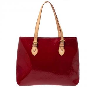 Louis Vuitton Pomme D'amour Monogram Vernis Brentwood Bag