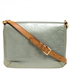 Louis Vuitton Grey Monogram Vernis Thompson Street Bag