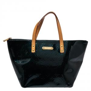 Louis Vuitton Bleu Nuit Monogram Vernis Bellevue PM Bag