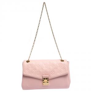 Louis Vuitton Pink Monogram Empreinte Leather St Germain PM Bag
