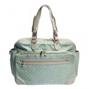 Louis Vuitton Light Blue Monogram Mini Lin Sac A Langer Diaper Bag