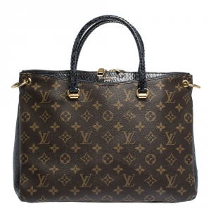 Louis Vuitton Monogram Canvas and Python Pallas Bag