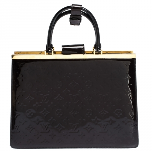 Louis Vuitton Terre D'Ombre Monogram Vernis Deesse GM Bag