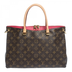 Louis Vuitton Pink Monogram Canvas Pallas MM Bag