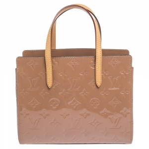 Louis Vuitton Rose Velours Monogram Vernis Catalina BB Bag